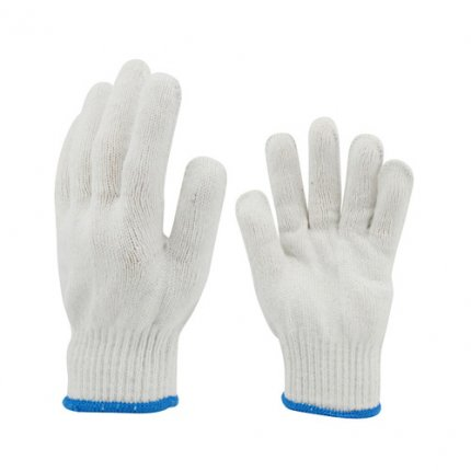 12 Pairs Cotton Working Protection Gloves White Color