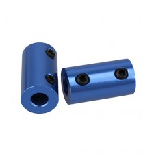 Aluminum Rigid Shaft Coupling Blue Color