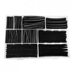 385Pcs Boxed Black Heat Shrink Tubing 9 Sizes 2:1 Shrink Ratio