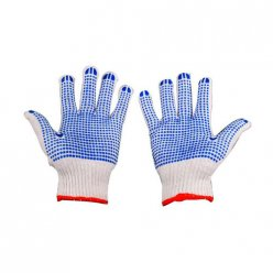 12 Pairs Rubber Dotted Cotton Working Gloves