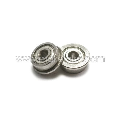 F623ZZ Flanged Bearing 3 x 10 x 4mm - Click Image to Close