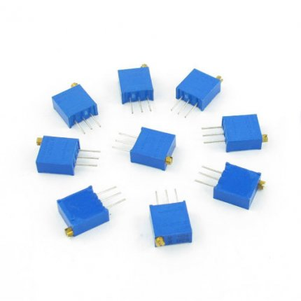 34Pcs 3296W Variable Resistor Trimmer Potentiometer Pack 17 Values