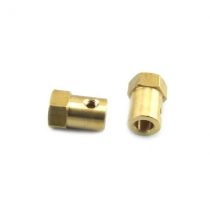 Brass Hex Coupler for Smart Car Wheel