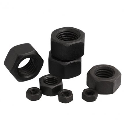 Metric Hex Nuts Stainless Steel Black Color DIN934