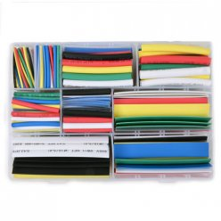 385Pcs Boxed Heat Shrinkable Tube Assortment 9 Sizes 7 Colors