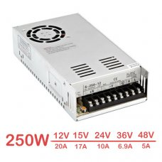 250W LED Switching Power Supply 12V 15V 24V 36V 48V