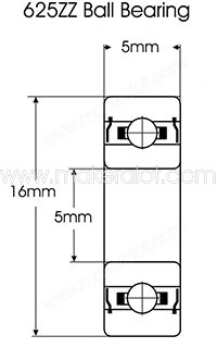 625ZZ Shielded Miniature Bearing