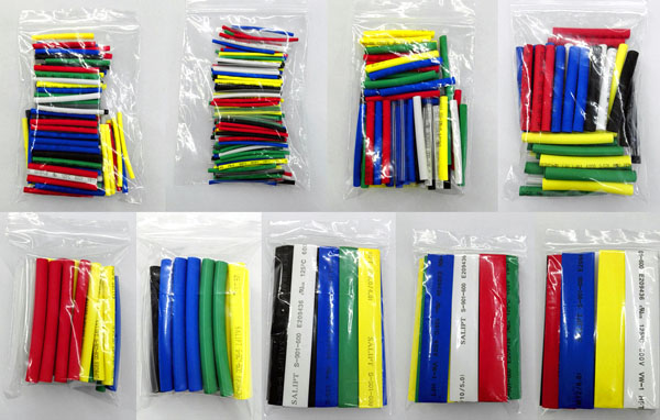 497Pcs Assorted Heat Shrink Tube 9 Sizes 7 Colors